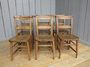 Set of 6 Reclaimed Church Chairs