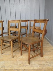 Image 2 - Set of 6 Reclaimed Church Chairs
