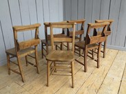 Image 4 - Set of 6 Reclaimed Church Chairs