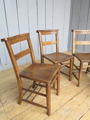 Set of 4 Reclaimed Church Chairs
