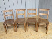 Image 2 - Set of 4 Reclaimed Church Chairs