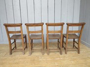 Image 3 - Set of 4 Reclaimed Church Chairs