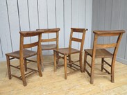 Image 4 - Set of 4 Reclaimed Church Chairs