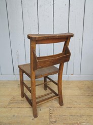 Image 3 - Reclaimed Church Chairs With Book Holders