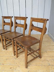 These chairs came from St Peters Church in Bengeworth Evesham