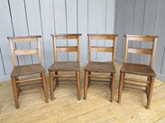 Image 5 - Reclaimed Church Chairs With Book Holders