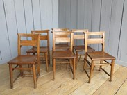 Image 1 - Set of 6 Reclaimed Church Chairs