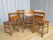 Image 3 - Set of 6 Reclaimed Church Chairs