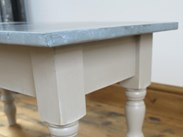 Lightly Distressed Antique Zinc Coffee Table
