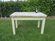 Antique Reclaimed Stone Top Table with a Pine Distressed Base