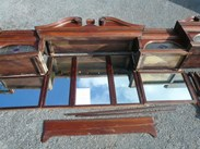 Image 2 - Original Edwardian Solid Mahogany Mirrored Bar Back 4.9m Long