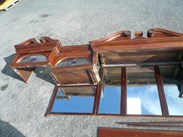 Image 3 - Original Edwardian Solid Mahogany Mirrored Bar Back 4.9m Long