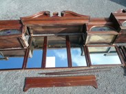 Image 4 - Original Edwardian Solid Mahogany Mirrored Bar Back 4.9m Long
