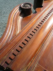 Image 9 - Original Edwardian Solid Mahogany Mirrored Bar Back 4.9m Long