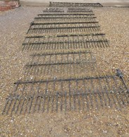 8 Sections of Victorian Wrought Iron Railings