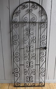 Vintage Wrought Iron Arched Top Pedestrian Gate