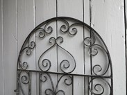 Image 2 - Vintage Wrought Iron Arched Top Pedestrian Gate