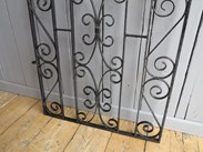 Image 4 - Vintage Wrought Iron Arched Top Pedestrian Gate