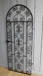 Image 7 - Vintage Wrought Iron Arched Top Pedestrian Gate