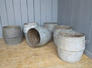 Image 2 - Vintage Galvanised Garden Planters With Handles
