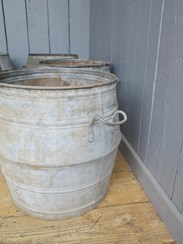 Image 5 - Vintage Galvanised Garden Planters With Handles