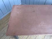 Image 3 - Copper Topped Table With Distressed Base