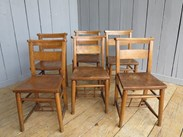 Set of 6 Church Chairs Without Bible Backs