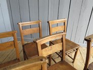 Image 2 - Set of 6 Church Chairs Without Bible Backs