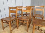 Image 4 - Set of 6 Church Chairs Without Bible Backs