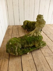 Image 4 - Pair of Antique Hand Carved Bath Stone Sphinx