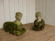 Image 7 - Pair of Antique Hand Carved Bath Stone Sphinx