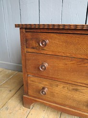 Image 2 - Solid Oak Three Drawer Side Cabinet/Chest