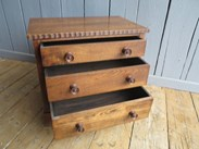 Image 3 - Solid Oak Three Drawer Side Cabinet/Chest