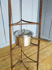 Large Free Standing Wrought Iron Pan Stand - Rack