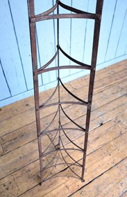 Large Free Standing Wrought Iron Pan Stand - Rack for sale at UKAA