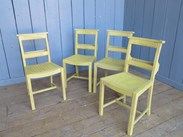 Image 2 - Set of 4 Hand Painted & Distressed Church Chairs