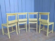 Image 5 - Set of 4 Hand Painted & Distressed Church Chairs