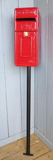 Image 3 - Original Red Arch Back Post Box With Stand