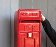 Image 4 - Original Red Arch Back Post Box With Stand