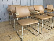 Image 3 - Tubular Vinyl Covered Stacking Chairs