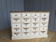 Shabby Chic Apothecary Cabinet With 20 Drawers