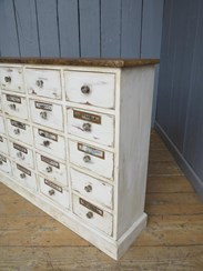 Image 3 - Shabby Chic Apothecary Cabinet With 20 Drawers