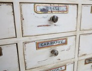Image 4 - Shabby Chic Apothecary Cabinet With 20 Drawers