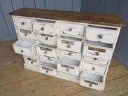 Image 5 - Shabby Chic Apothecary Cabinet With 20 Drawers