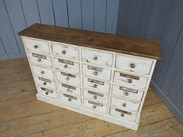 Image 7 - Shabby Chic Apothecary Cabinet With 20 Drawers