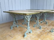 Antique Reclaimed Antique Stone Topped Cast Iron Garden Table