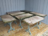 Image 2 - Reclaimed Antique Stone Topped Cast Iron Garden Table