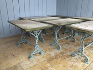 Image 5 - Reclaimed Antique Stone Topped Cast Iron Garden Table