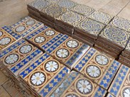 Antique Minton Encaustic Floor Tiles salvaged Stoke upon Trent