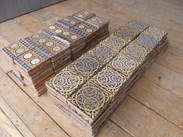 Image 6 - Set of 225 Antique Minton Encaustic Floor Tiles